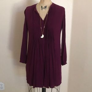 Cute Old Navy Popover Micropleated Shift Dress S
